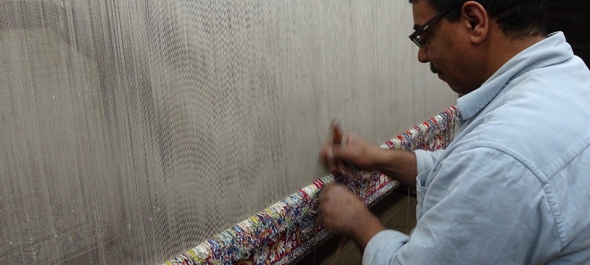 Carpet factory tours show you how rugs and carpets are made at El Kahhal Carpets - Tours